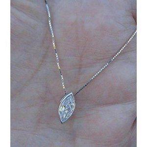Marquise Cut 1.5 Ct Diamond Bezel Setting Pendant
